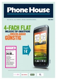 The Phone House Telecom GmbH 4-fach Flat inklusive Top-Smartphone unschlagbar günstig Mai 2012 KW18