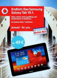 Vodafone Samsung Galaxy Tab 10.1 April 2012 KW16