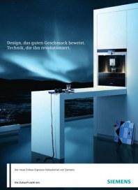 Siemens-Electrogeräte GmbH Einbau Espresso-Vollautomat 2012 Januar 2012 KW52