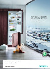 Siemens-Electrogeräte GmbH Kältegeräte der coolConcept-Baureihe Juni 2012 KW22