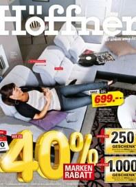 Höffner Marken stark reduziert Juli 2012 KW27