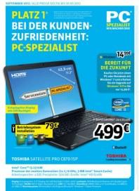 PC-SPEZIALIST Platz 1 bei der Kundenzufriedenheit August 2012 KW35