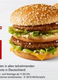 McDonalds Die Gutscheine sind wieder da September 2012 KW37