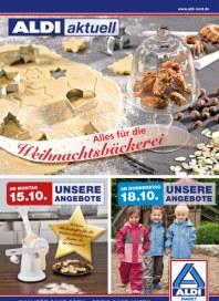 Aldi Nord Alles für die Weihnachtsbäckerei Oktober 2012 KW42