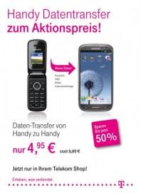 Telekom Shop Handy Transfer zum Aktionspreis Oktober 2012 KW42
