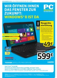 PC-SPEZIALIST Wir öffnen Ihnen das Fenster zur Zukunft November 2012 KW44