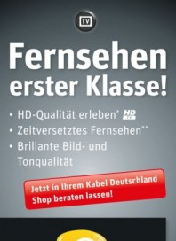 Kabel Deutschland Fernsehen erster Klasse Dezember 2012 KW50