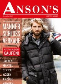 Anson's Männer Schluss Verkauf Dezember 2012 KW51