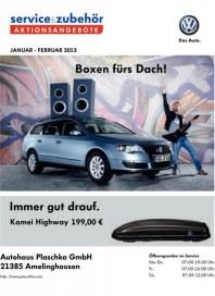 Volkswagen Aktionsangebote Januar 2013 Januar 2013 KW01