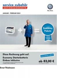 Volkswagen Aktionsangebote Januar 2013 Januar 2013 KW01 1