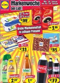 Lidl Große Markenvielfalt zu billigen Preisen Januar 2013 KW03