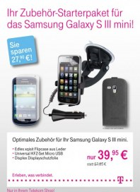 Telekom Shop Ihr Zubehör-Starterpaket Januar 2013 KW03