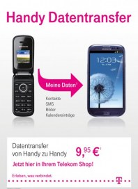 Telekom Shop Handy Datentransfer Februar 2013 KW07