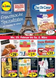 Lidl französische Spezialitäten Februar 2013 KW09