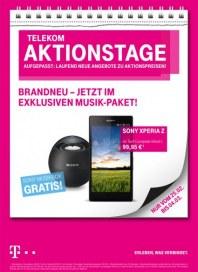 Telekom Shop Telekom Aktionstage - Brandneu - jetzt im exklusiven Musik-Paket März 2013 KW09