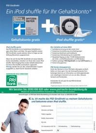 PSD Bank Ein iPod shuffle für Ihr Gehaltskonto* März 2013 KW13
