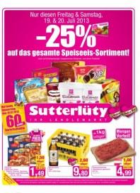 Sutterlüty Sutterlüty Angebot 18.07. - 24.07.2013 Juli 2013 KW29