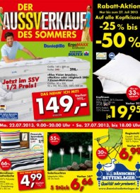 Dänisches Bettenlager Rabattaktion Juli 2013 KW29