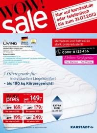 KARSTADT 24.07.2013 Matratzen & Bettwaren - Wow! sale Juli 2013 KW30