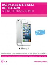Telekom Shop Das iPhone 5 im LTE-Netz der Telekom - Schneller kann keiner August 2013 KW31