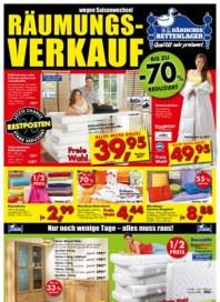 Dänisches Bettenlager Räumungsverkauf August 2013 KW33