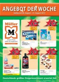 Müller Drogerie Angebot der Woche August 2013 KW35