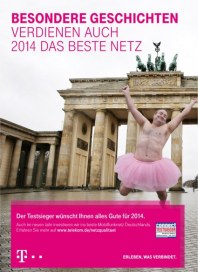 Telekom Shop Besondere Geschichten verdienen auch 2014 das beste Netz Dezember 2013 KW01