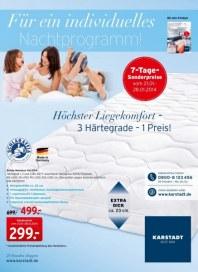 KARSTADT Matratzen & Bettwaren - Für ein individuelles Nachtprogramm Januar 2014 KW04