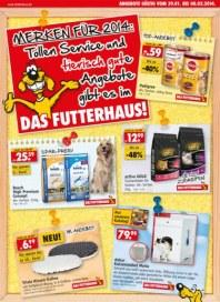 Das Futterhaus Toller Service und tierisch gute Angebote Januar 2014 KW05