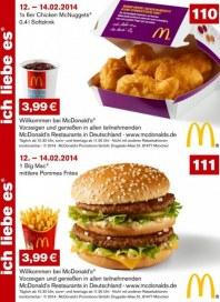 McDonalds Gutscheine 12.-14.02.2014 Februar 2014 KW07