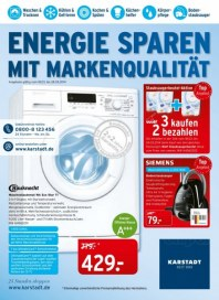 KARSTADT Elektro - Energie sparen mit Markenqualität März 2014 KW12