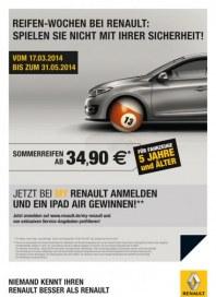 Renault Reifen-Wochen bei Renault März 2014 KW12