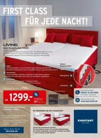 KARSTADT Matratzen & Bettwaren - First Class für jede Nacht April 2014 KW18
