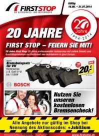 First Stop Reifen Auto Service GmbH 20 Jahre Juni 2014 KW25 1