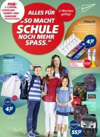 """real,- Alles für """"So macht Schule noch mehr Spaß."""" Juli 2014 KW28"""