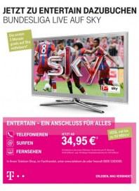 Telekom Shop Jetzt zu Entertain dazubuchen - Bundesliga live auf Sky August 2014 KW33