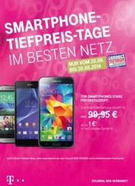 Telekom Shop Smartphone-Tiefpreis-Tage im besten Netz August 2014 KW34