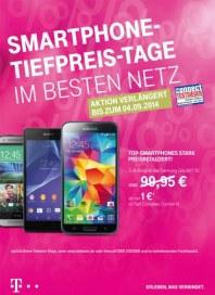 Telekom Shop Smartphone-Tiefpreis-Tage im besten Netz August 2014 KW35 1