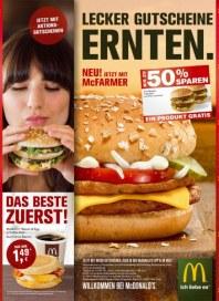 McDonald's Lecker Gutscheine ernten September 2014 KW37