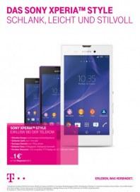 Telekom Shop Das neue Sony Xperia™ Style - Schlank, leicht und stilvoll September 2014 KW37