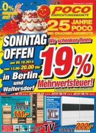 POCO Sonntag offen in Berlin Oktober 2014 KW40