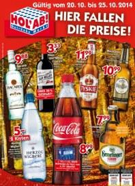 Hol ab Getränkemarkt Hier fallen die Preise Oktober 2014 KW43