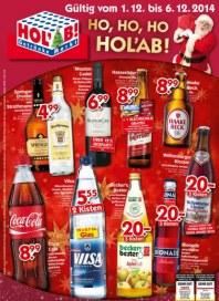 Hol ab Getränkemarkt Ho, Ho, Ho - Hol Ab Dezember 2014 KW49
