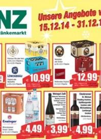 Benz Getränkemarkt Aktuelle Angebote Januar 2015 KW01