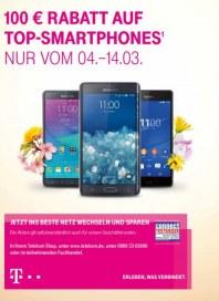 Telekom Shop 100€ Rabatt auf Top-Smartphones März 2015 KW10