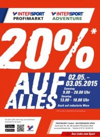 Intersport 20% auf alles Mai 2015 KW18