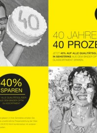 Binder Optik 40 Jahre - 40% September 2015 KW36