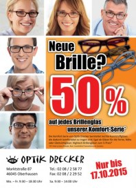 Optik Drecker Neue Brille Oktober 2015 KW41