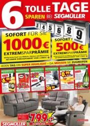 Segmüller 6 Tolle Tage - Sparen bei Segmüller Februar 2016 KW05