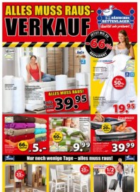 Dänisches Bettenlager Alles muss Raus-Verkauf Februar 2016 KW06